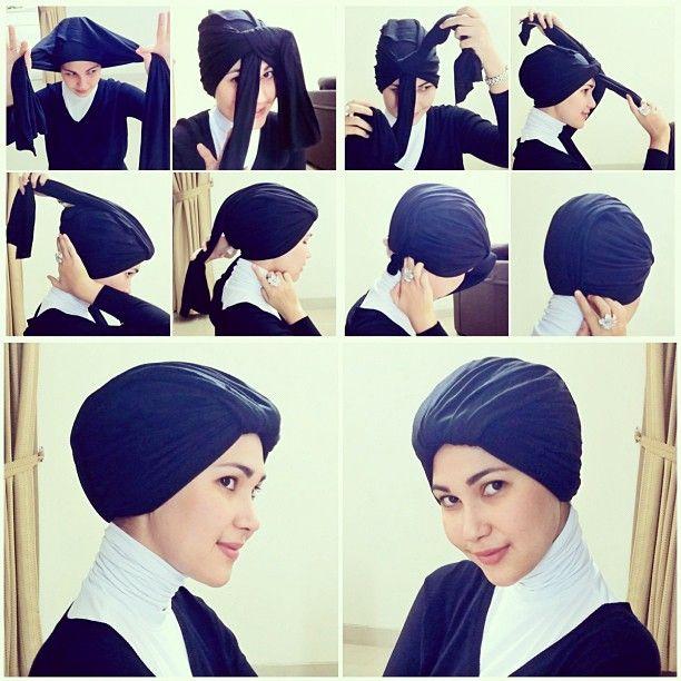 Turban style tutorial.. Hope you guys like it :):):) - @maharanihatta- #webstagram