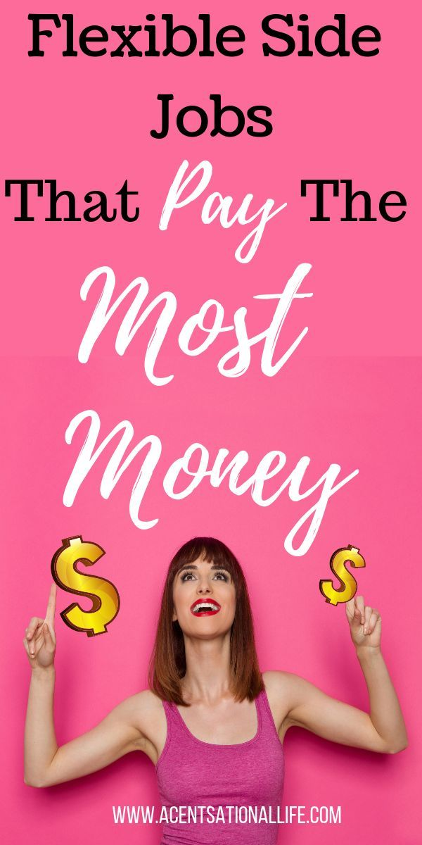 Flexible Side Jobs that Pay the Most! When you don't have a lot of time, you…