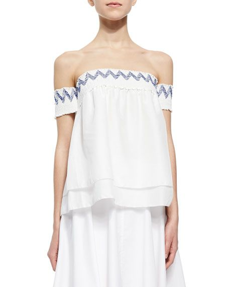 Rebecca Minkoff Pia Off-The-Shoulder Layered Top