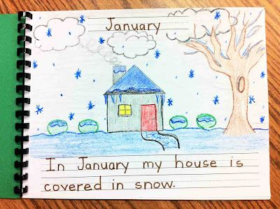 My House All Year--Students write a sentence about each month of the year & draw a picture to accompany the sentence. Gets students to practice their writing & what they know about seasons.