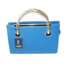Blauwe dames handtas
