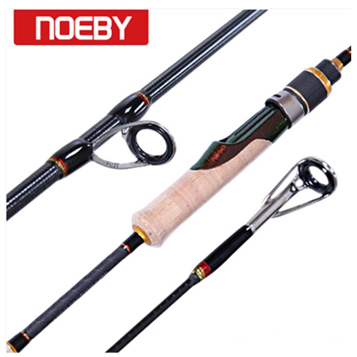 NOEBY Fishing Rods Carbon 1.98m 2section M/ML Spinning Rod Carpe Fishing Stand Pole  #fishingtrends