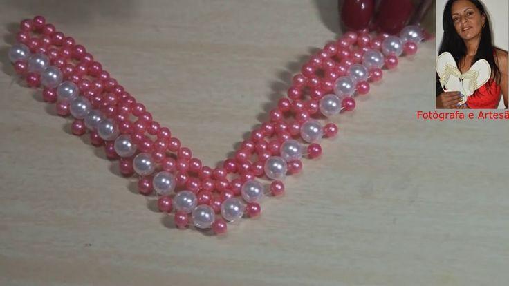 DIY: entrelaçado de  tira de pérolas  para chinelos - perlas de tira zap...