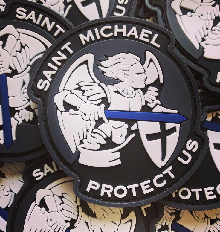 Saint Michael Protect Us - PVC patch #saintmichael #protectus #saintmichaelprotectus #patches #crazypatch #pvcpatches #toppe #stemmi #lapatcheria www.lapatcheria.com