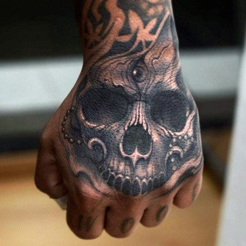 4d08b9c82 Top 50 Best Hand Tattoos For Men – Ink For Your Fist And Fingers | Tattoos  I'd like to have | Hand tattoos, Skull hand tattoo, Hand tattoos for guys