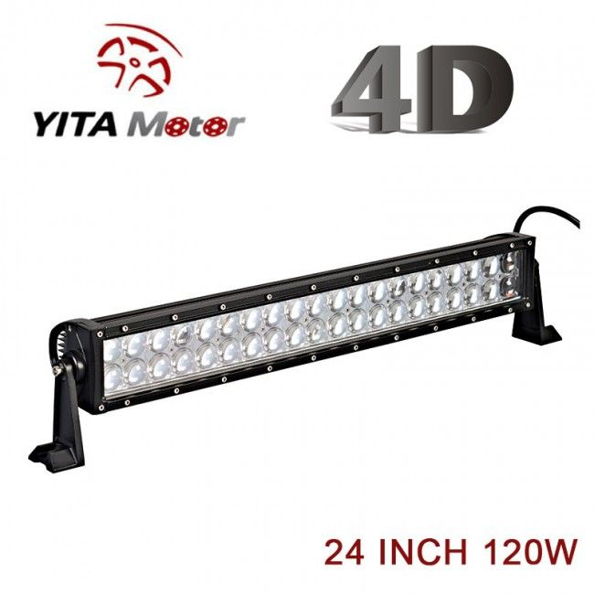 4D 24 inch LED Light Bars - Yitamotor 40% off weekly offers just $38.99
