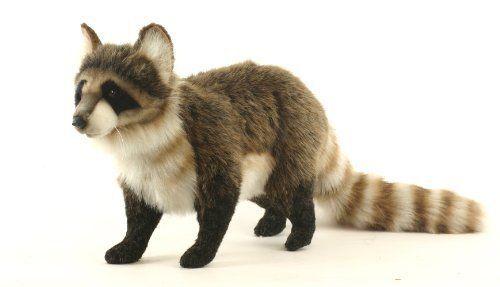 Hansa Racoon Stuffed Plush Animal, Standing New