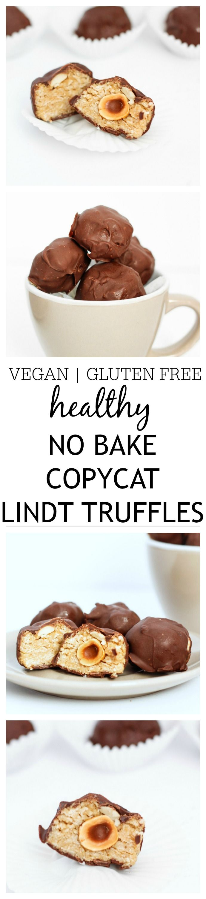 Healthy {No Bake} Copycat Lindt truffles- These copycat Lindt Truffles are the perfect treat to impress your guests without going to any effort! No bake, gluten free, vegan and a healthier (yet equally delicious!) spin on it's inspiration! @thebigmansworld -thebigmansworld.com