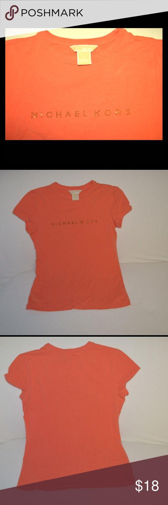 Michael Kors orange tshirt Michael Kors orange tshirt. Always too short for me. Maybe wore once. Michael Kors Tops Tees - Short Sleeve