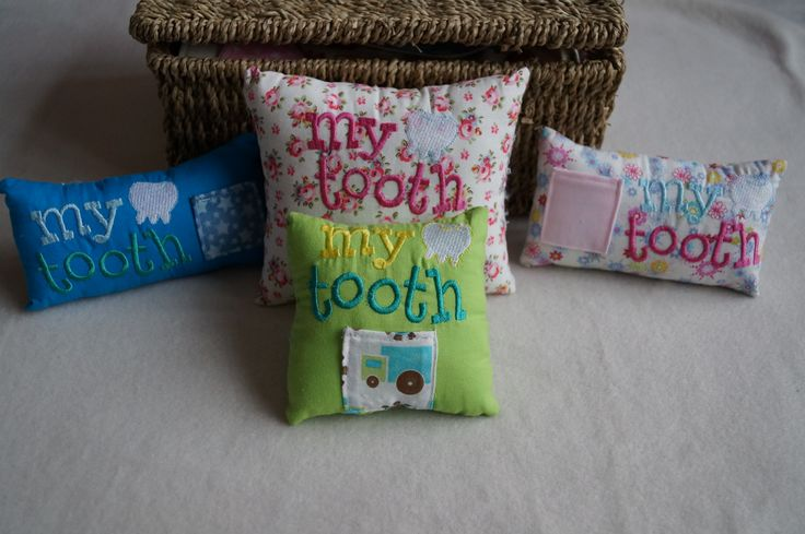 handmade tooth fairy cushions from www.facebook.com/carrieloucrafts