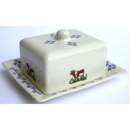 Brixton Pottery Cow Cheese/Butter Dish - £27.50