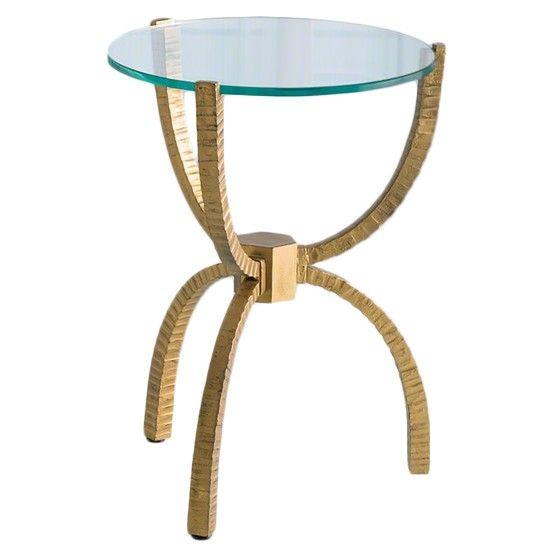 Teton Accent Table, Gold
