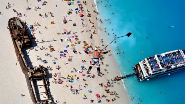 Navagio beach BASE jumping event 2014 | Bluetravelstories.com