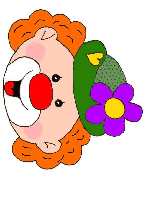 Gabarit le nez de clown placer payasetes simpaticos - Photo de clown a imprimer ...