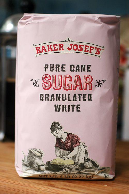 Trader Joe's sugar packaging « BEAUTIFUL type + Illustration treatment!!!