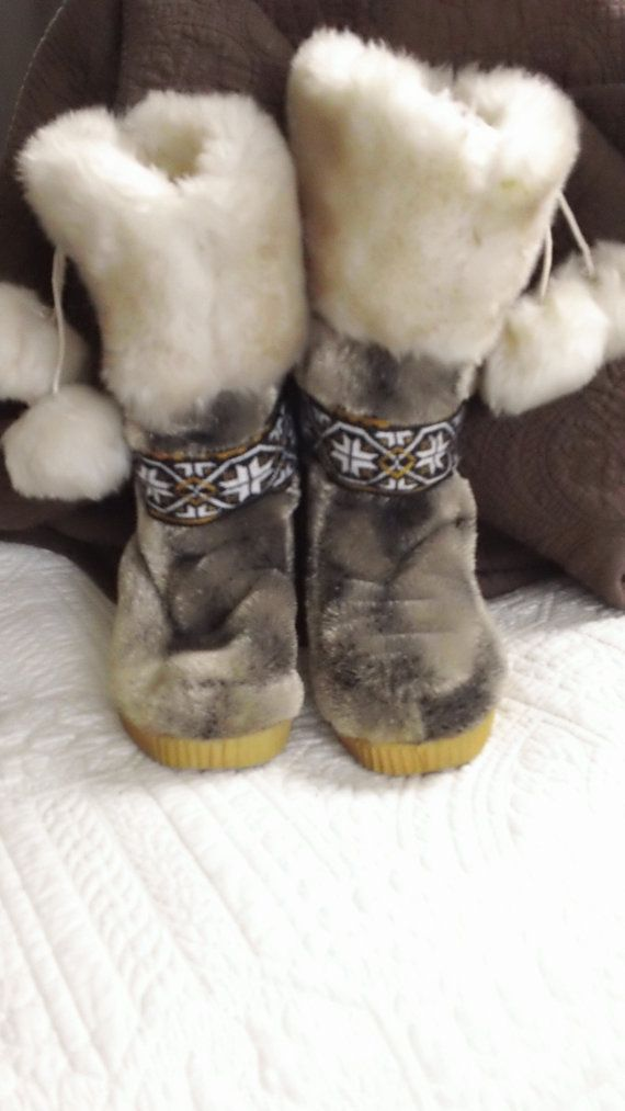 60s Eskipades Faux Fur Eskimo Winter Boots | Woman's Wear
