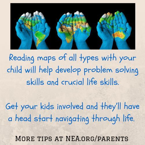 Reading maps of all types with your child will help develop problem solving skills and crucial life skills. Get your kids involved and they'll have a head start navigating through life.