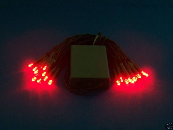 Battery powered CHRISTMAS LIGHTS - Bright RED LEDs GREAT FOR CRAFT MAKING LIKE WREATHS AND LIGHTED WINE BOTTLES!!!
