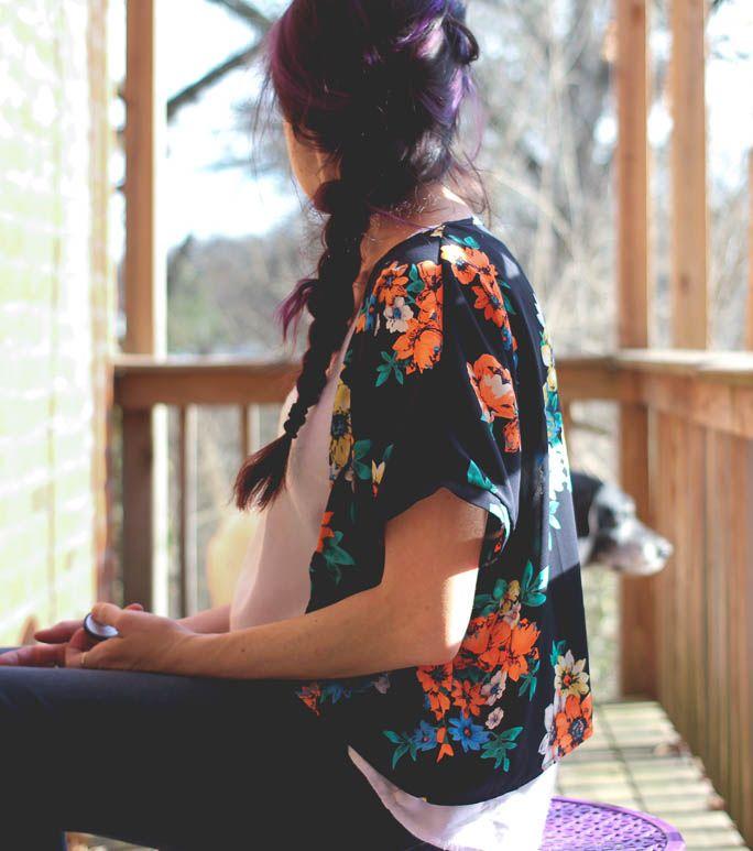 DIY Kimono refashion