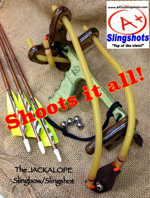 Jackalope Slingshot/Slingbow only from www.APlusSlingshots.com