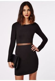 Lana Mesh Waist Shift Dress Black - Simple but perfect!
