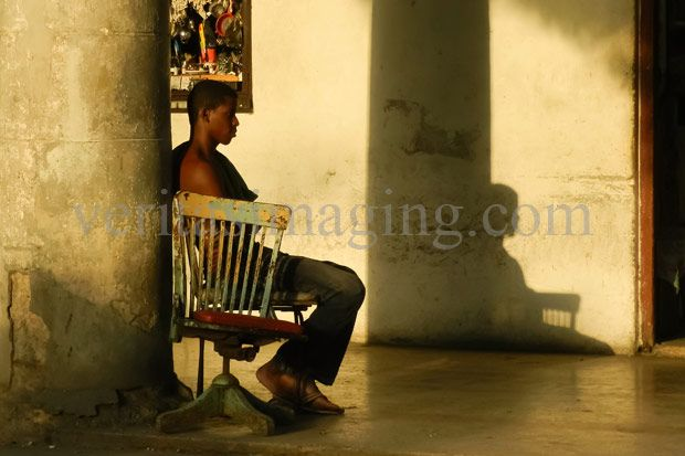 Young Man in old Havana