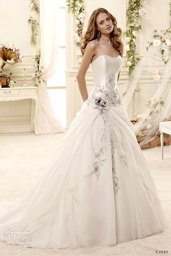 colet bridal 2015 style 10 coab15314ivlb sweetheart strapless a line wedding dress pale blue embroidery