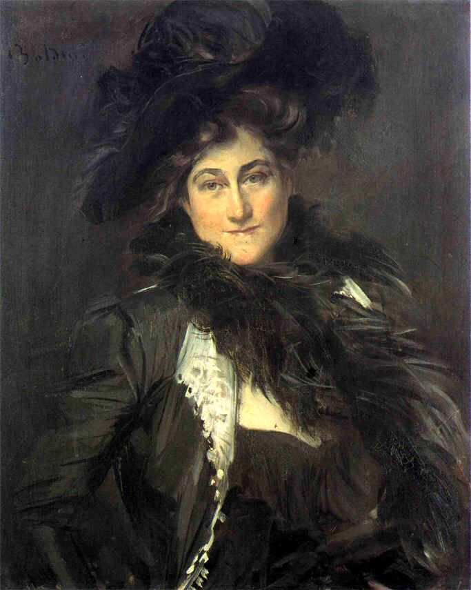 """Artist - Giovanni Boldini. """"Portrait of, Mrs. Stanford White"""". The wife of the famous Gilded Age era, NYC architect. ~~ {cwl}"""