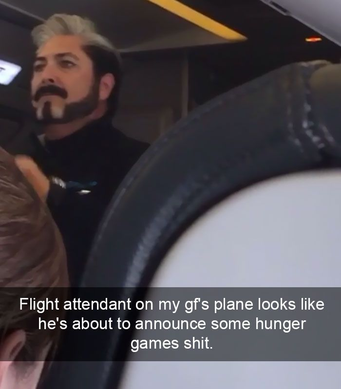 27 Of The Funniest And Most WTF Things Ever Seen On An Airplane - Funny Gallery