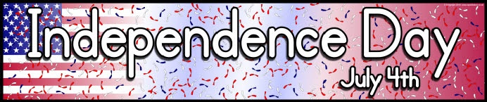 Independence Day (US) display banners (SB8302) - SparkleBox