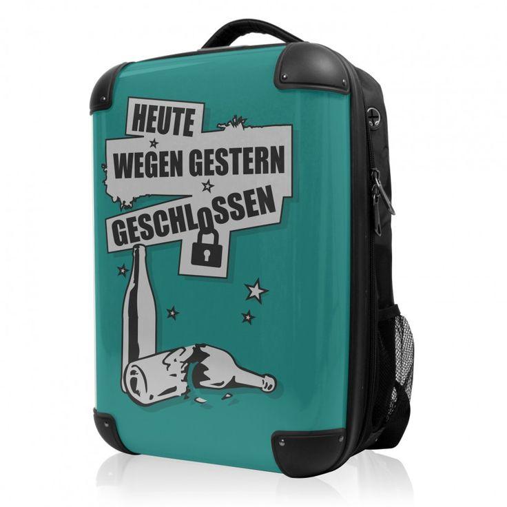 """BLNBAG - Rucksack Weich/Hart Hybrid Design: Wegen gestern geschlossen in Türkies, 50 cm, 28 Liter; Grüner #Rucksack aus der Serie """"BLNBAG"""" von #Hauptstadtkoffer.  #Hartschalenkoffer #Handgepäck #Grün #Koffer #Travel #Luggage #Reisen #Urlaub #green #Polaroid => mehr grüne Koffer: https://hauptstadtkoffer.de/de/reisegepack/alle-produkte?color=137"""