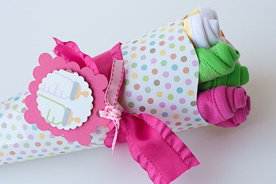 Baby Washcloth Bouquet Baby Shower Gift Boy by PinkPearTreeGifts