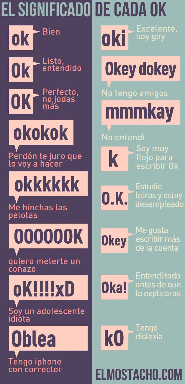 El significado de cada OK