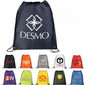 Image of custom printed promotional Large Oriole Drawstring Cinch Backpack has a large open main compartment with drawstring rope closure available at Vivid Promotions Australia. #CustomPrintedbacksacks #Promotionalbacksacks #LogoPrintedBackpack #LargeOrioleDrawstringCinchBackpack #VividPromotions