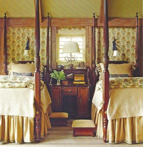 667 best english country style images on pinterest for Rustic cottage bedroom