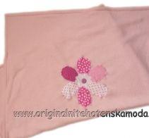 Marela - Dětská deka Patchwork flower pink | Originální těhotenská móda