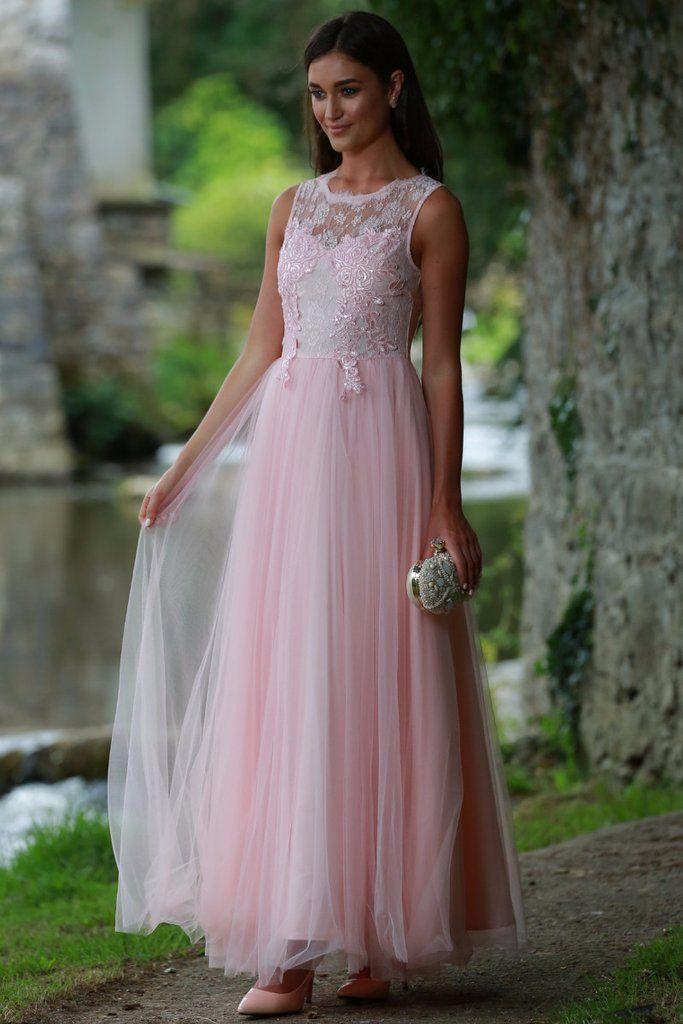 Harper Baby Pink Tuille Dress