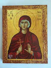 Saint Natalia - handmade Greek orthodox Russian byzantine icon on wood
