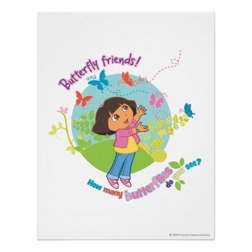 Dora The Explorer - Butterfly Friends Print