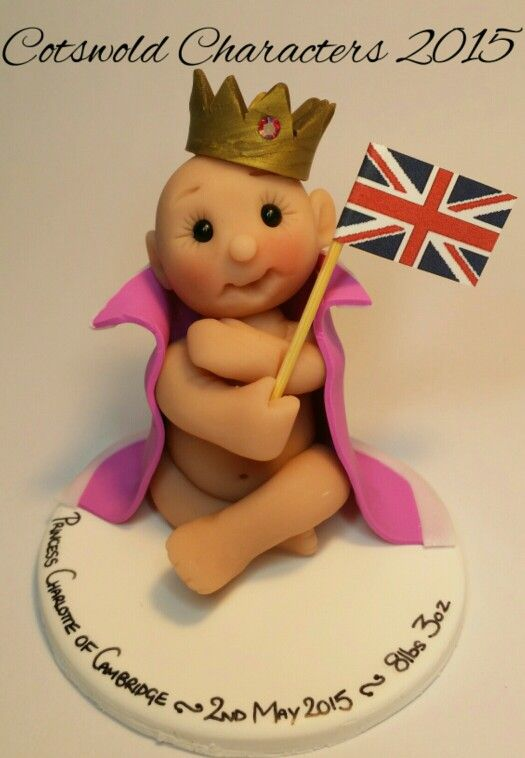 Princess Charlotte of Cambridge polymer clay keepsake!