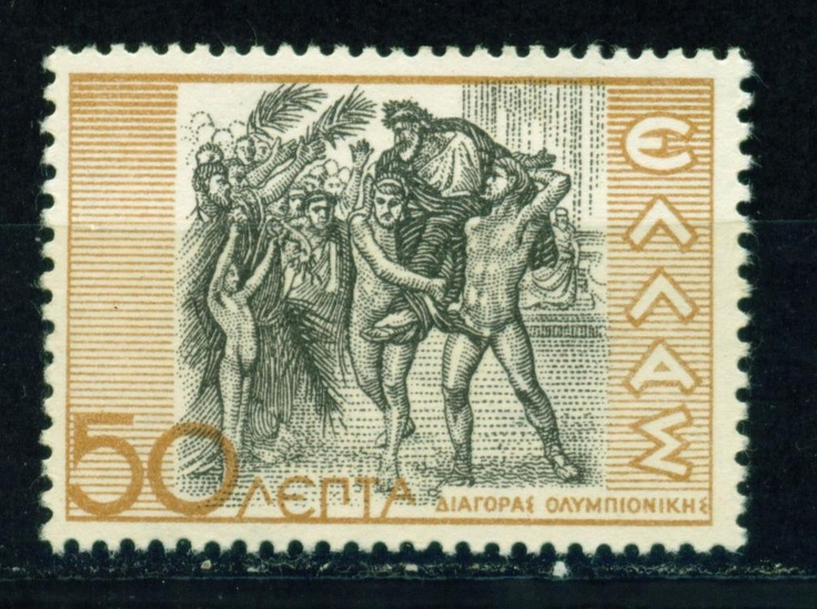 Greece Diagoras of Rhodes Victor at Olympics Stamp 1937 | eBay