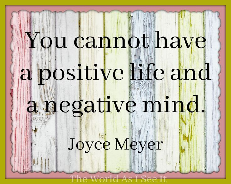 Joyce Meyer - Quote Of The Week - The World As I See It