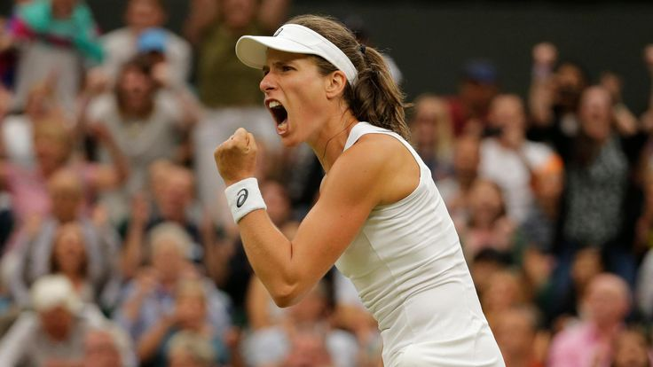 Johanna Konta beat Romanian second seed Simona Halep in a thrilling match to become Britain's first women's Wimbledon semi-finalist since 1978.  Sixth seed Konta, 26, fought back to win 6-7 (2-7) 7-6 (7-5) 6-4 and match Virginia Wade's feat of 39 years ago.