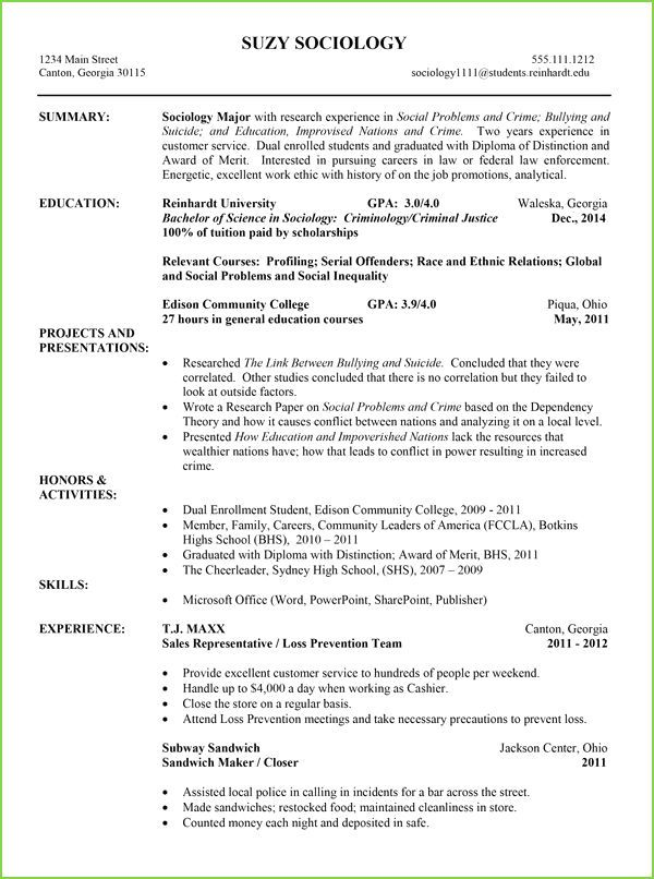 Sample Ministry Resume College Resume Template College Resume Chronological Resume Template