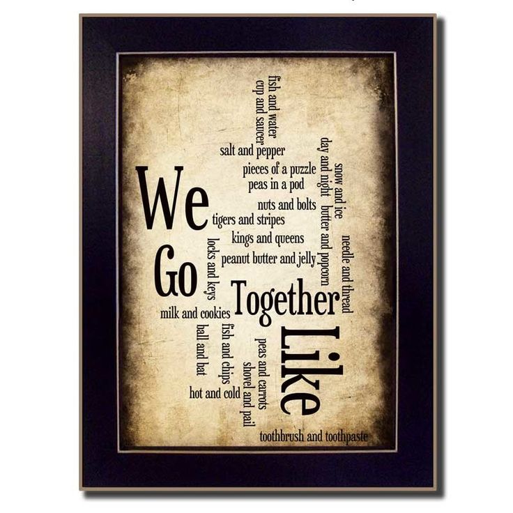 We Go Together I by Susan Ball Framed Textual Art
