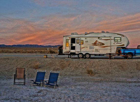 Salton Sea Camping On Corvina Beach