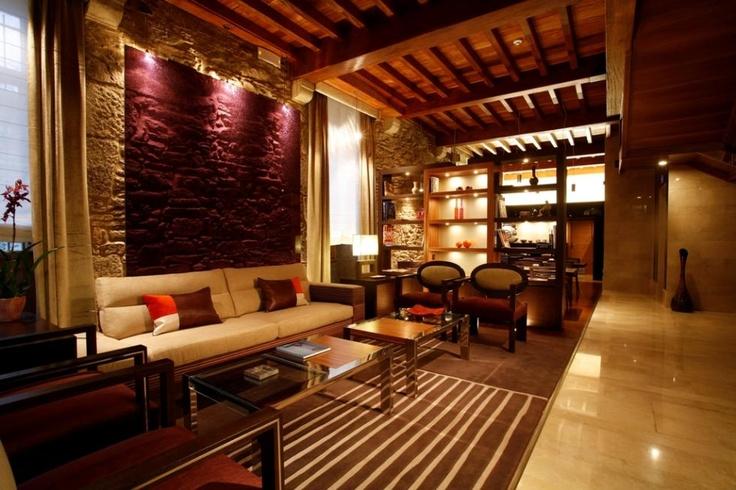 Altair hotel, Santiago de Compostela, Galicia Region. Hotel's lounge.