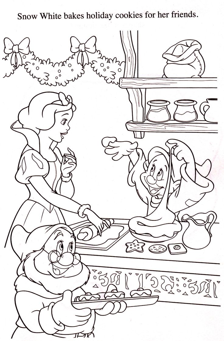 Free printable santa wish list coloring page tickled peach studio - Disney Coloring Pages