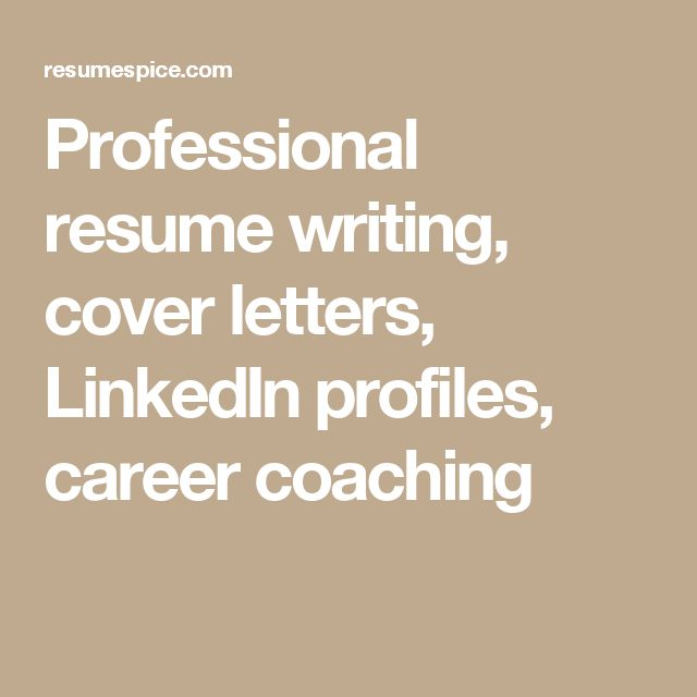 Professional Resume Writing, Cover Letters, LinkedIn Profiles, Career  Coaching