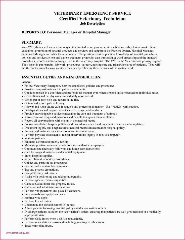 Pharmacy Technician Resume Responsibilities Inspirational